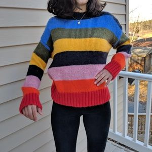 URBAN OUTFITTERS VINTAGE SWEATER MULTI COLORED STR